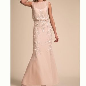 Gold BHLDN gown